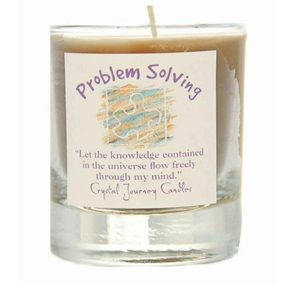 Problem Solving Glass Filled Votive Candle