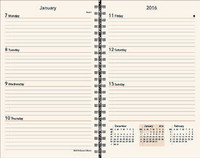 "8"" × 5"" Weekly/Monthly Planner Refill (ivory)"