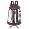 Indigo Stripes Valerie Backpack - Upcycled Materials