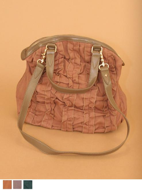 Mona Satchel Bag -  Hemp/Organic Cotton