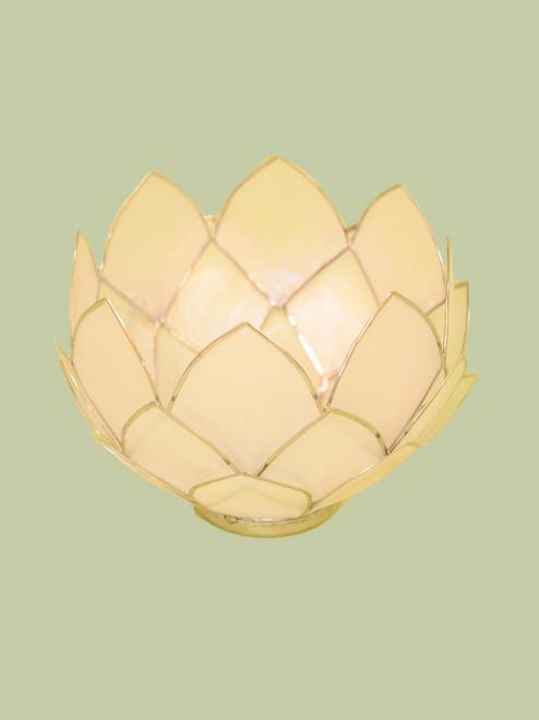 Natural w/Gold Bowl Tealight Holder