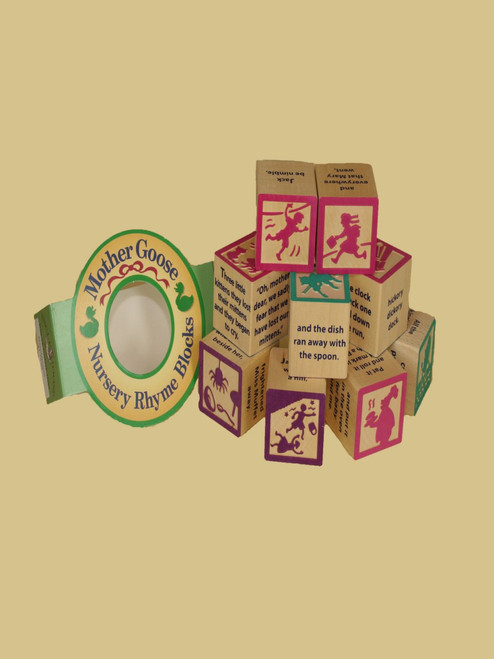 Nursery Rhyme Blocks - Sustainable Wood