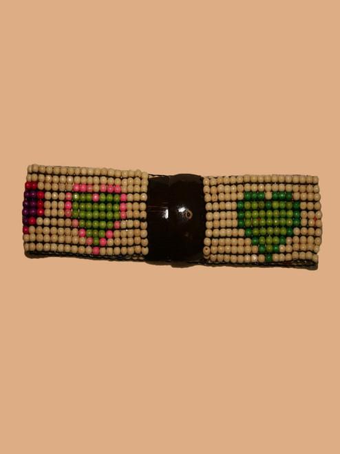 Rectangle Coconut & Heart Belt