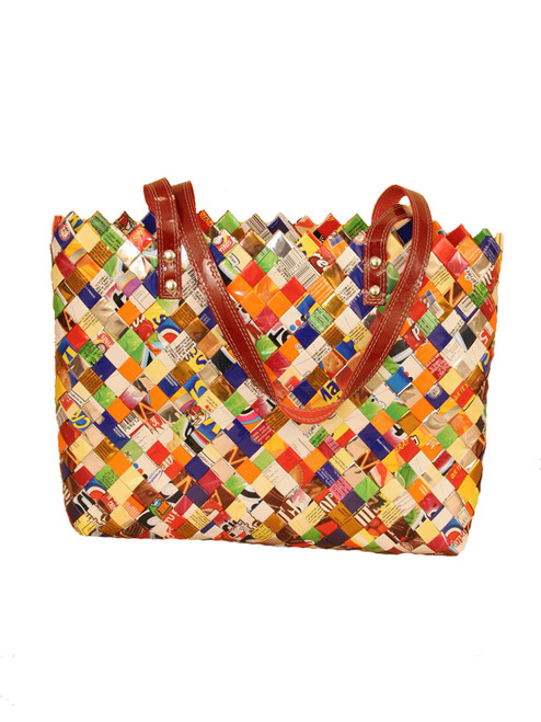 Ritual in Tutti Frutti Handbag - Recycled Materials. Fair Trade