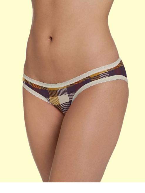 Women's Portland Plaid Bikini - Organic Cotton