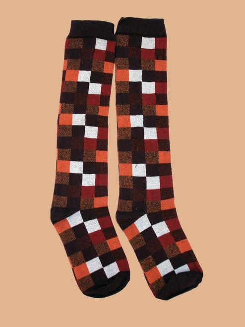 Women's Knee Sock Portland Plaid - Organic Cotton