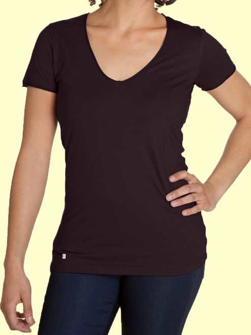Women's V-Neck Shirt - Organic Cotton and Modal