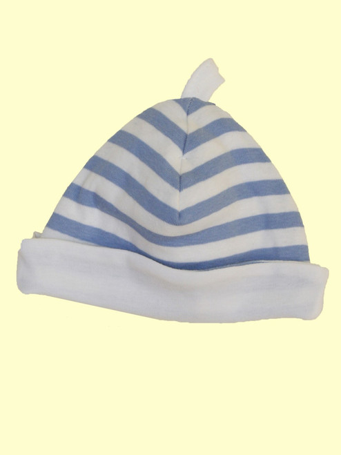 Blue Stripes Hat - Organic Cotton