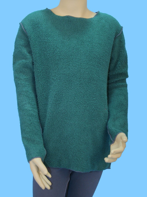 Sweater With Elbow Pads - Organic Sherpa