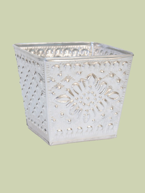 Recycled Aluminum Flower Pot - Fair Trade