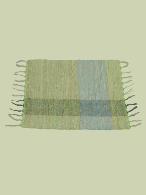 Green Blocks Vetiver Placemat . Set of 6 - Fair Trade