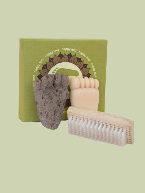 Happy Feet Pumice, Brush & Soap Boxed Set - Fair Trade