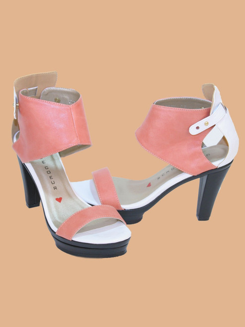 Emerson Ankle Cuff Platform Sandals - Vegan Leather