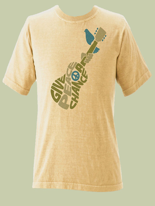 Give Peace A Chance Short Sleeve Organic Tee - Fair Trade