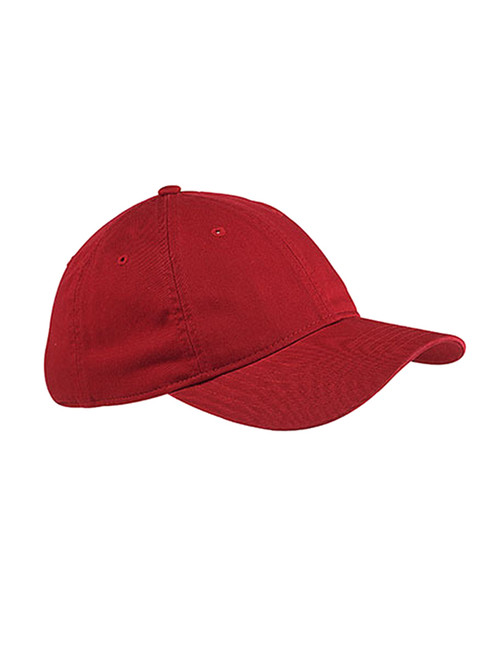 Red Unstructured Baseball Hat - Organic Cotton