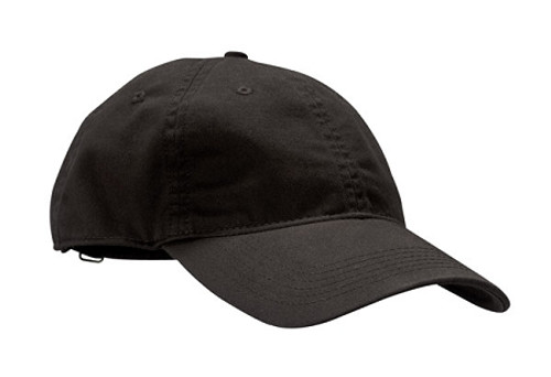Black Unstructured Baseball Hat - Organic Cotton