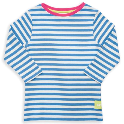 Organic Cotton Girl's 3/4 Sleeve Nautical T-shirt - Fair Trade