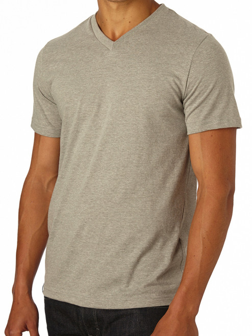 Men's V- Neck Heather Grey Everyday T-Shirt - Fair Trade