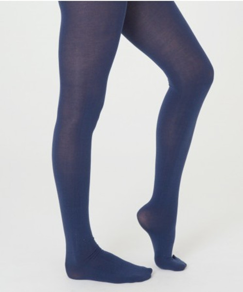 Women's  Everyday Navy Tights  - Organic Cotton blend