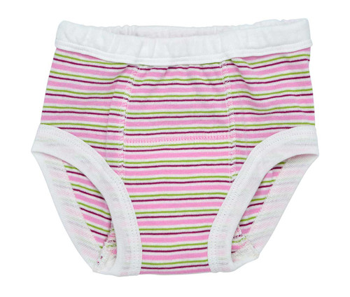Organic Training Pants for Babies & Toddlers - Raspberry Stripes