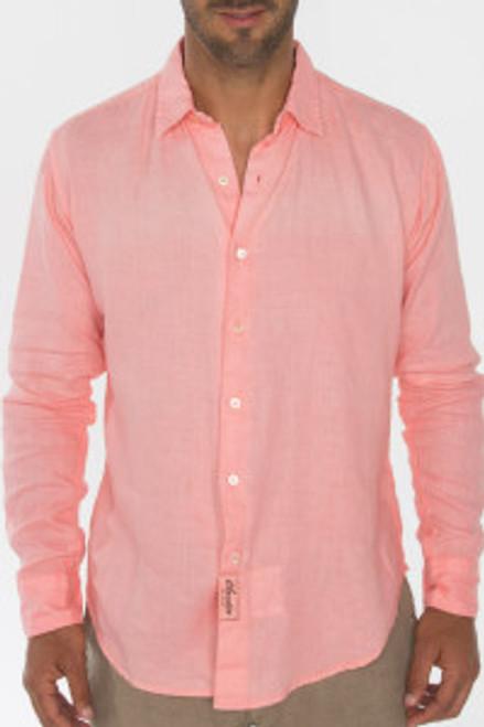 Men's 100% Natural Linen Fitted Shirt