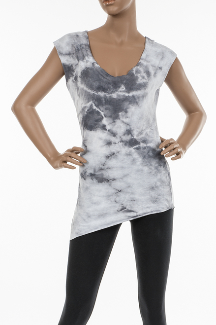 Women V Angled Bottom Top, Organic Cotton/Modal Blend