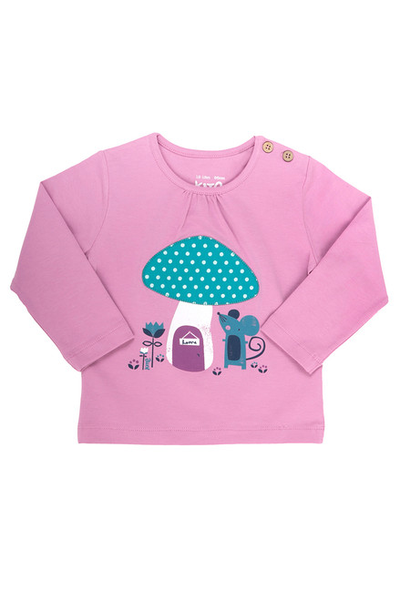 Baby Girl's Organic Cotton Mouse and House T-Shirt