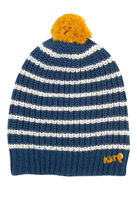 Boy's Organic Cotton Pom Pom Hat
