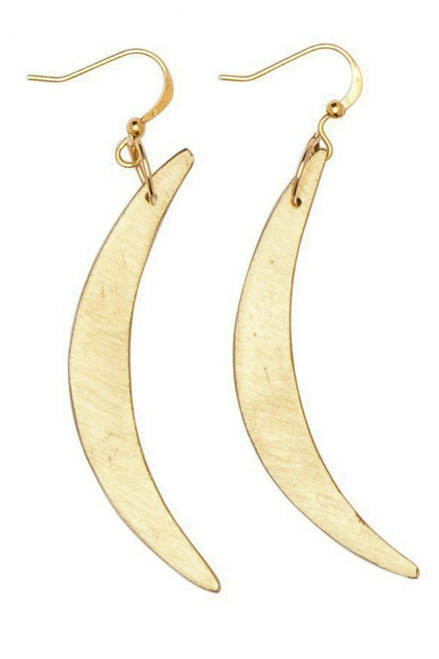 Selasse Crescent Earrings - Recycled Brass