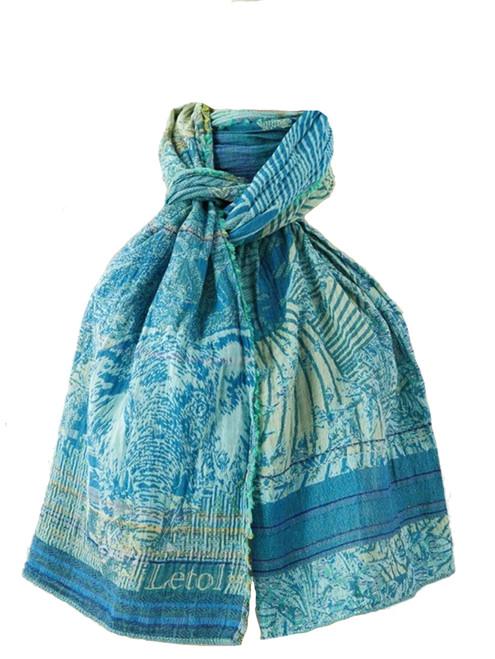Babacar Turquoise Scarf  - 100% Organic Cotton