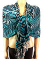 Pashmina Animal Blue Black #84-5