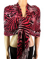 Pashmina Animal Fuchsia Black #84-8