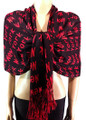 Pashmina New York Black / Red #45-1