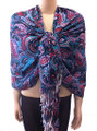 New! Pashmina  Flowers Print  Red Dozen #90-1