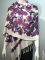 New! Pashmina Butterfly Print  Purple Dozen #81-1