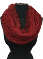 New! Knit Warm Cable Design With Faux Fur lining Infinity Scarf Assorted Dozen #530