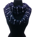 Super Soft Chevron  Knit Infinity Scarf Assorted Dozen #608b