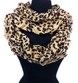 Soft Warm Leopard Infinity Scarf Assorted Dozen #348