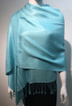 Pashmina Solid light blue Dozen #2-42