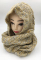 New! Two-Tone Winter Pullover Knit  Hood Infinity Scarf Assorted Dozen # 1553