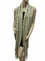 Super Soft  Knit Warmer Wide  Long Scarf  Beige  # 1552-2