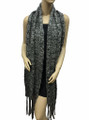 Super Soft  Knit Warmer Wide  Long Scarf  Gray  # 1552-4