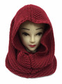 Solid Color Pullover Knit  Hood Infinity Scarf Assorted Dozen # 549
