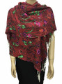 New! Pashmina Flowers Print Assorted Dozen #113