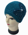 Butterfly Design Knit Headband with Sequence  Assorted Dozen # HB 064