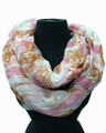 Lightweight Starfish and Conch Design Infinity Scarf Assorted Dozen #603