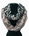 Lightweight Two-Tone Sea Horse Design Infinity Scarf Assorted Dozen  #606