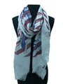 Lightweight Stars and Stripes Time Dial Design Scarf Assorted Dozen #S734