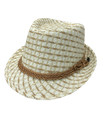 Fashion Summer Straw Hat Ivory # H8005-2