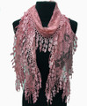 Lightweight Floral Lace Scarf with Fringe Assorted Dozen #725
